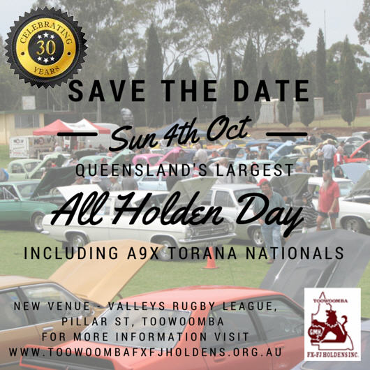 Toowoomba All Holden Day @ Valleys Rugby League | Middle Ridge | Queensland | Australia