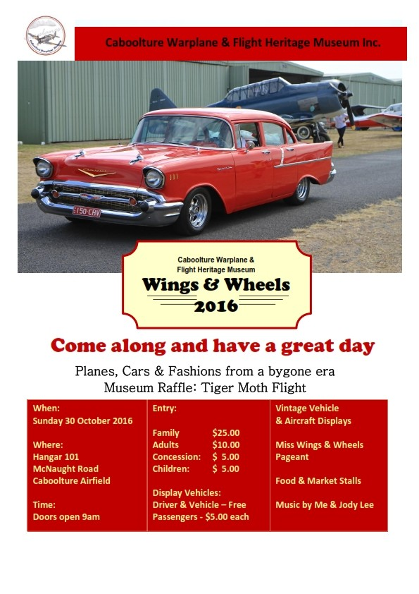 Wings and Wheels Day @ Caboolture Airfield | Caboolture | Queensland | Australia